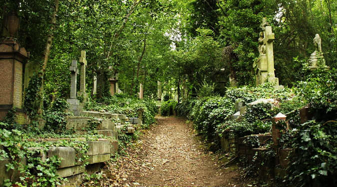 Highgate Cemetery, North London, England